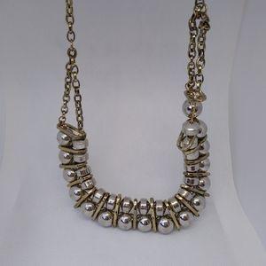 "Silver-tone Ball & Chain 20"" Necklace"